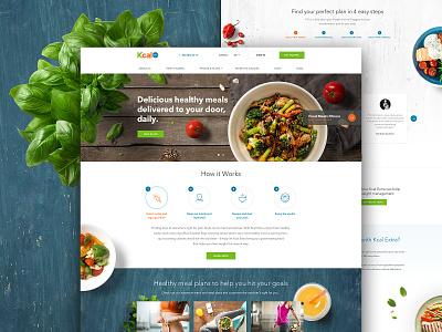 Kcal Extra Website art direction design dubai graphic design site ui ux web website responsive uae webdesign food fresh ecommerce meal prep restaurant green clean healthy