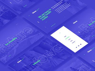 Gene Brand & Website agency interface interaction minimal clean dubai graphic design green blue health site website webdesign design ui ux web identity branding art direction