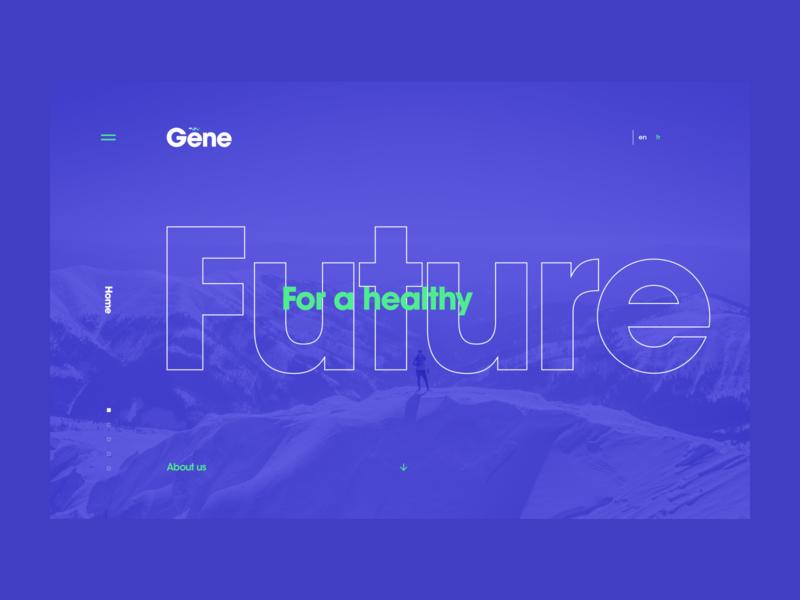 Gene Website Design & Development branding canada toronto typography minimal blue clean advertising agency health responsive webdesign site website web ux ui dubai design art direction