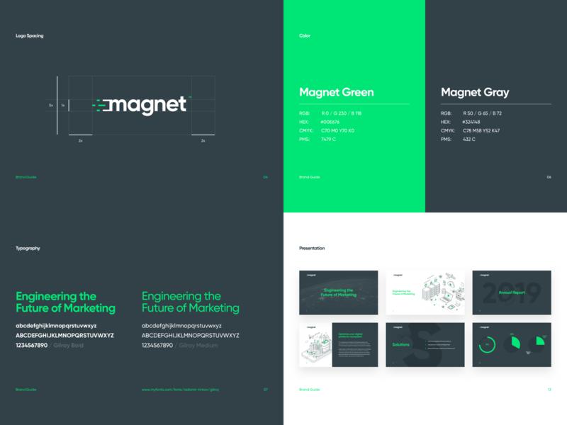 Magnet Brand Guide uae typography logo brand identity tech green toronto marketing canada website agency branding graphic design web ux ui dubai design art direction