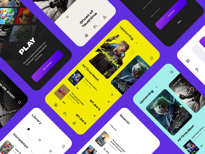 Play App Design video game website web design webdesign cyberpunk logo branding web ux ui game video games playstation nintendo xbox gaming app dubai design art direction
