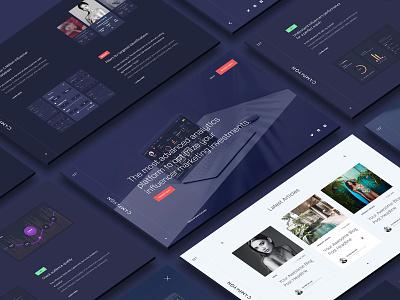 Campaygn Landing Page design dubai art direction ui ux web website webdesign graphic design site saas marketing landing page wordpress startup technology tech typography analytics social media