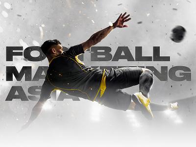 Football Marketing Asia agency soccer fresh wordpress sport asia marketing football singapore hongkong typography graphic design webdesign site art direction dubai ui ux web website