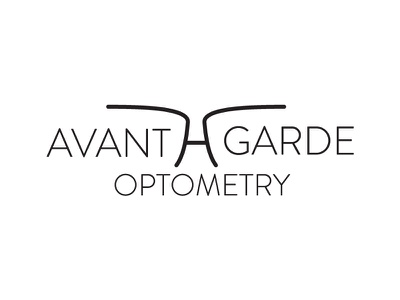 Avant-Garde Optometry Logo logo branding optometry glasses