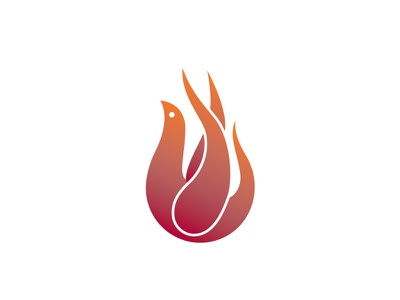 Prayer4Awakening Logo logo branding dove fire