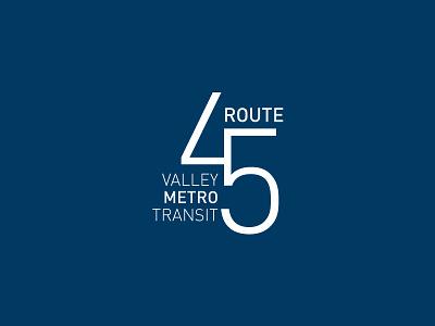 Bus Route 45 Logo logo branding 45 transit