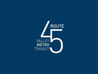 Bus Route 45 Logo