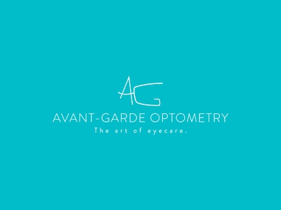 Avant-Garde Optometry Logo  eyecare optometry abstract a g