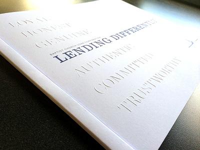 Loan Annual Report annual report banking blind emboss clean minimal