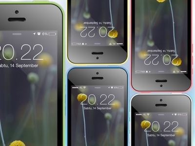 iPhone 5c Mockup in Sketch format