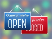 Open Close Store Sign Made With Sketch