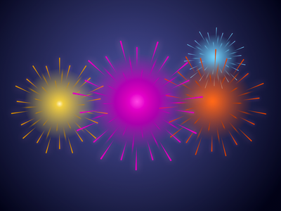 Fireworks in Sketch fireworks sketch free tutorial new year