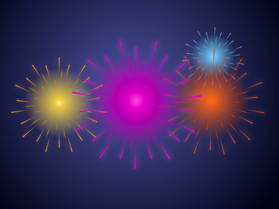 Fireworks in Sketch