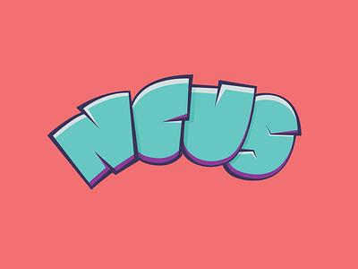 Ncus Personal Logo logo branding comic colorful simple