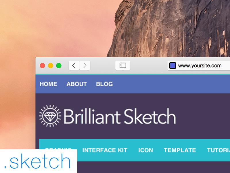 Safari OS X Yosemite .Sketch File sketch safari yosemite mockup free ui kit