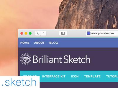 Safari OS X Yosemite .Sketch File