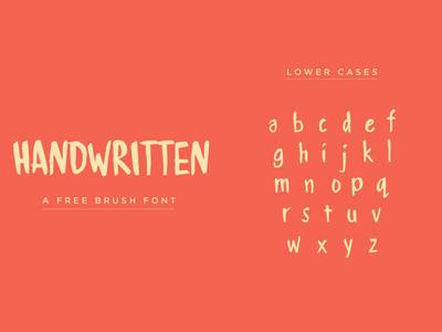 HANDWRITTEN - Font free Download