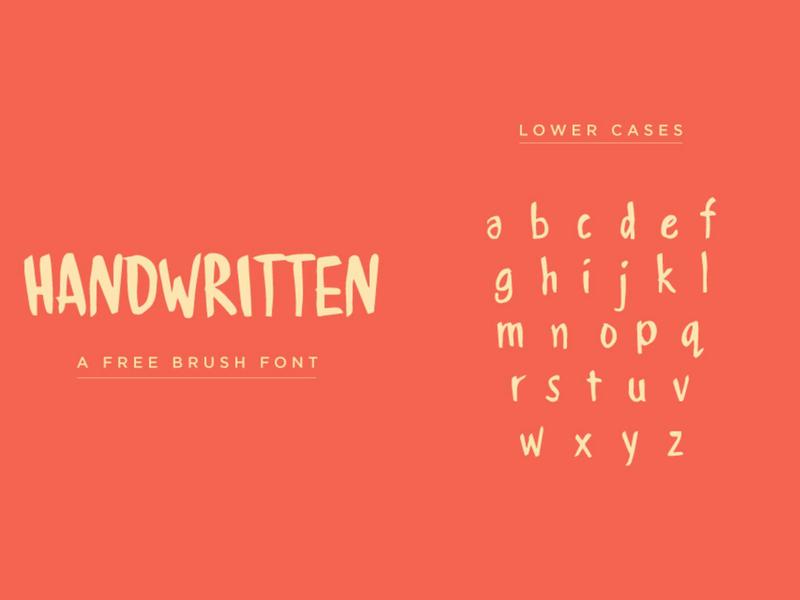 HANDWRITTEN - Font free Download ui  ux handwritten font fonts free fonts
