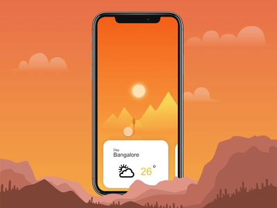 Weather App Interaction Concept