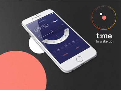 Alarm Clock -  Mobile App UI Design (t:me)