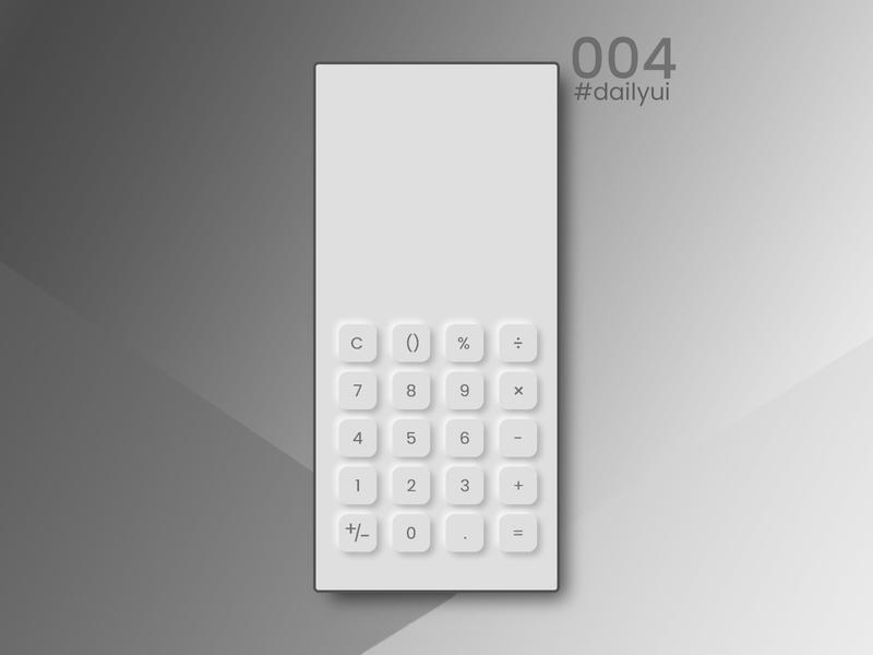 Daily UI calculator ui dailyui uidesign dribbble 100dayuichallenge web ui design