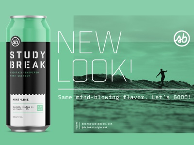 Study Break Cans coastal surf california seltzer can identity branding design packaging
