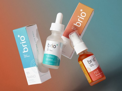 Brio Product Photos photgraphy brandid logo branding cbd packaging