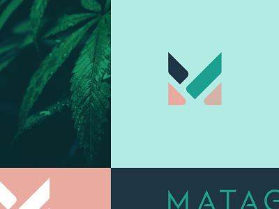 MATA plant logotype typography type icon mark logo product design hemp packaging branding design