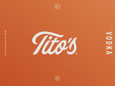 Tito's Brand Study orange brandid identity branding type design typography script type