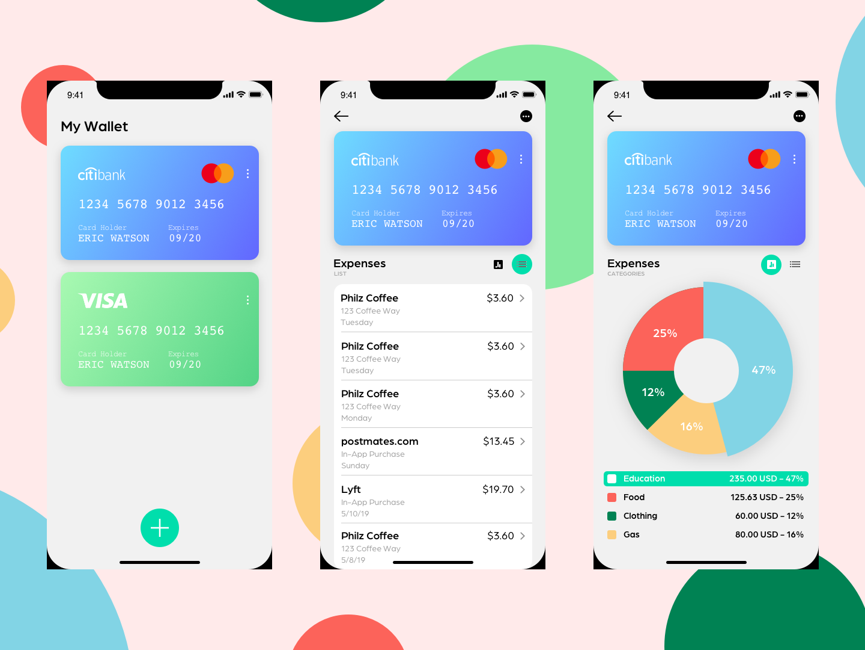 Finance tracker illustration ux ui design app