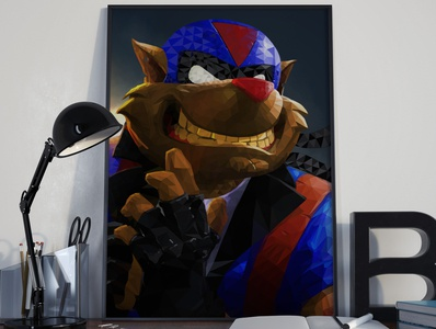 T-Bone - SwatKats - Polygonal Art