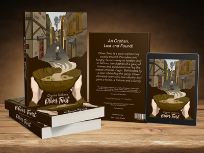 Story Book Cover Design - Oliver Twist