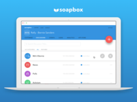Soapbox Web App early design