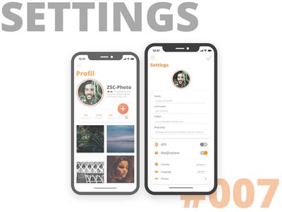 007 Settings Daily UI