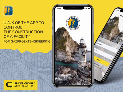 UI/UX of the app to control the construction of a facility adaptive design animation mobile app design ux ui interface