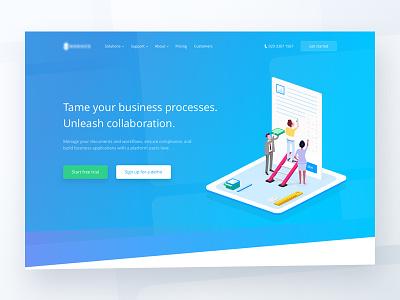Landing page 🌈 emmanuel julliot compliance business platform workflow documents collaboration illustration landing page landing web gradient
