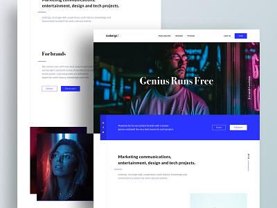 Icebergs - Landing emmanuel julliot emmanuel icebergs brands freelancers typography landing page landing