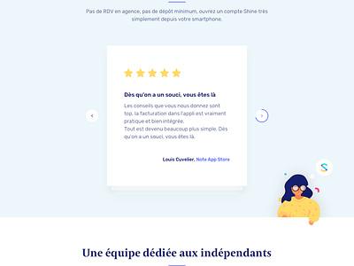 Shine 🌈🌈🌈 app finetech bank finetech shine bank account bank illustration website interface ux ui web emmanuel julliot landing page landing