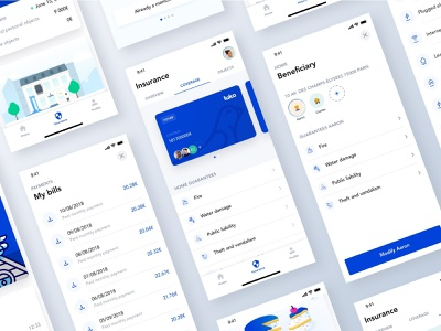 Luko V.1 📱📱📱 ios ux ui interface emmanuel julliot emmanuel cards illustrations coverage bills beneficiary guarantee insurance company insurance app insurance mobile app mobile app luko