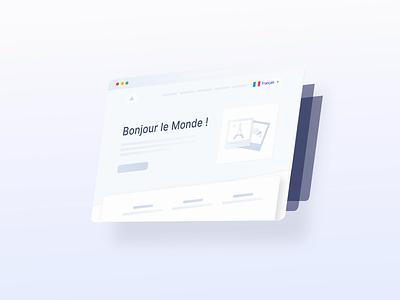 Upcoming project 🌟🌟🌟 中文 english français affinity designer after effect interface translate emmanuel julliot emmanuel website illustration animation
