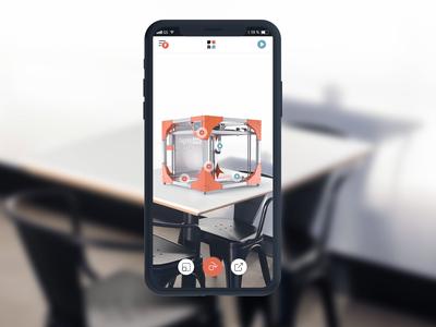 AR 3D Printer - App design