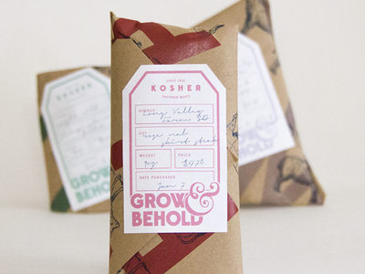 Grow & Behold logo/colorway/packaging illustrator typography colorway packaging logotype logo design