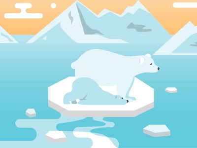 Global Warming Awareness flat illustration flat art poster design graphic design design illustration