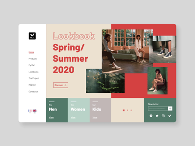 Landing Page - UI Weekly #3 uiux clean landing page ui animation figma minimal colors motion graphics motion ui trend digital flat design ux ui design animation