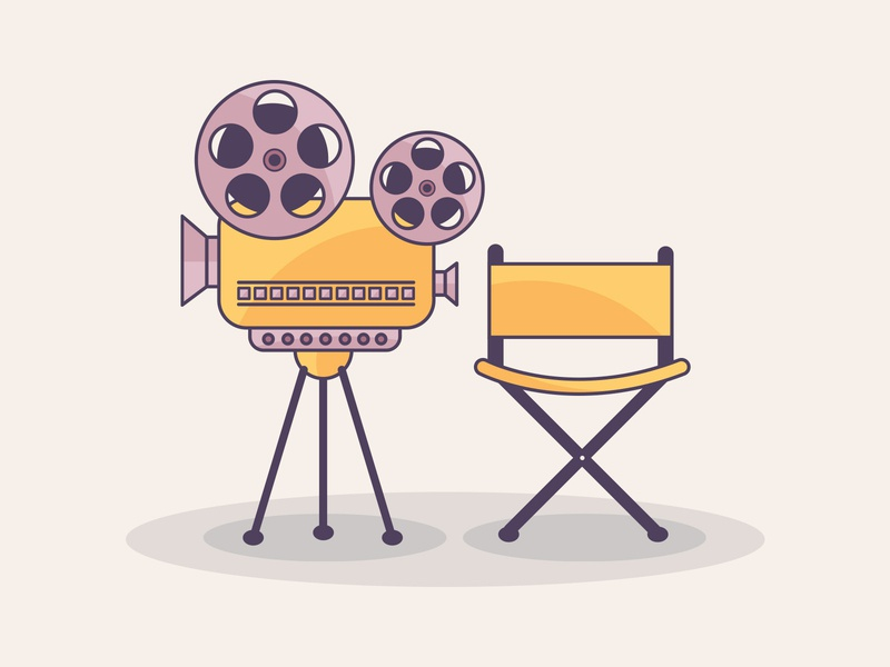Cinema illustration design
