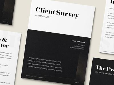 Client Survey | Website Project ui design graphic design web design ux ui contract freelance business freelance client