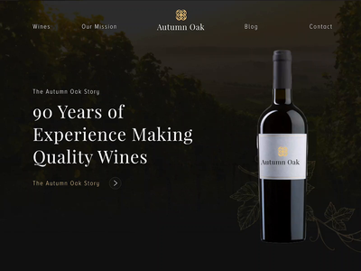 Wine Website Parallax Animation ui design web design ui adobe xd parallax scrolling parallax webdesigner webdesign