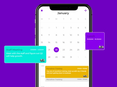 Scheduler App Concept ui calendar ui ios app ui design ios