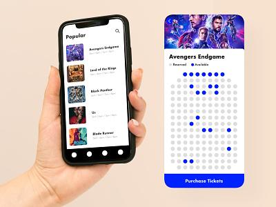 Movie Ticket App Concept ios ui design ux ui