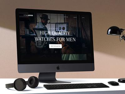 Watch Website website concept graphic design ui design ui web design